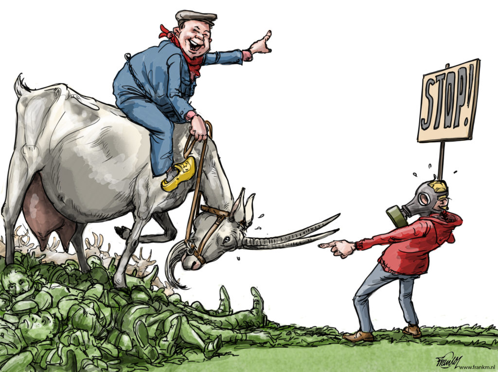 Geitenboer 2018 cartoon Frank Muntjewerf