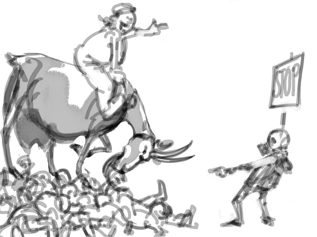 schets tekening Frank Muntjewerf