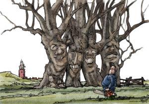 2009 Heldersche Courant Texel bomen