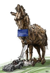 natuurbegraven paard van Troje